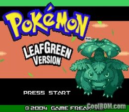 Pokemon leafgreen rom download for gameboy advance gba for Cool roms