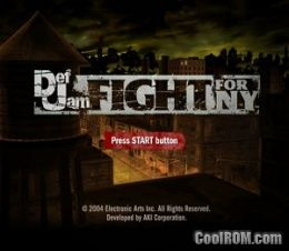 Def Jam Fight For Ny Rom Iso Download For Sony Playstation 2