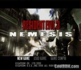 Resident evil 3 nemesis [slus-00923] psx rom free download.
